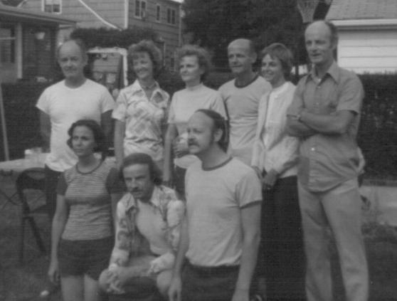 Our Eustice family in New Jersey.  To the right you can see my father Raymond.  Uncle Charlie past away before picture was taken